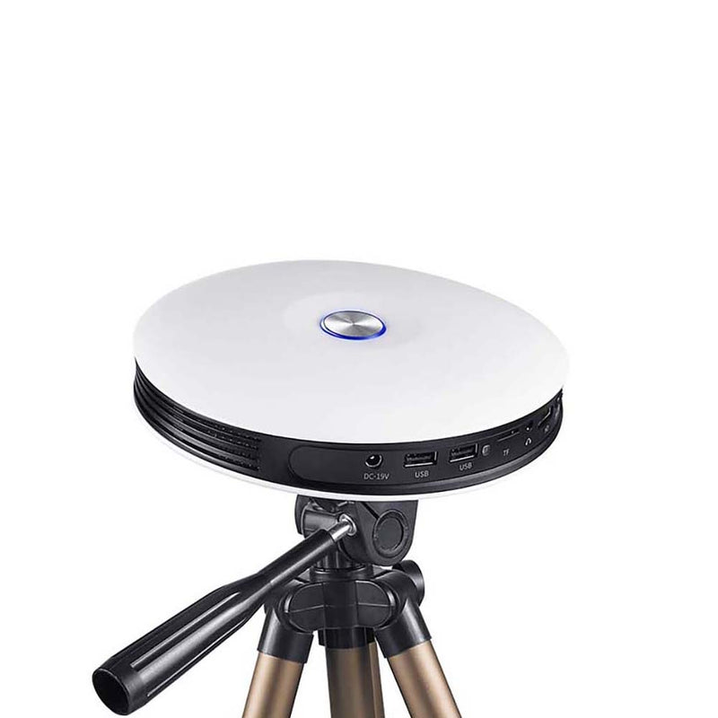 Hotack DP08 Android DLP Mini Projector - Showed on a Tripod