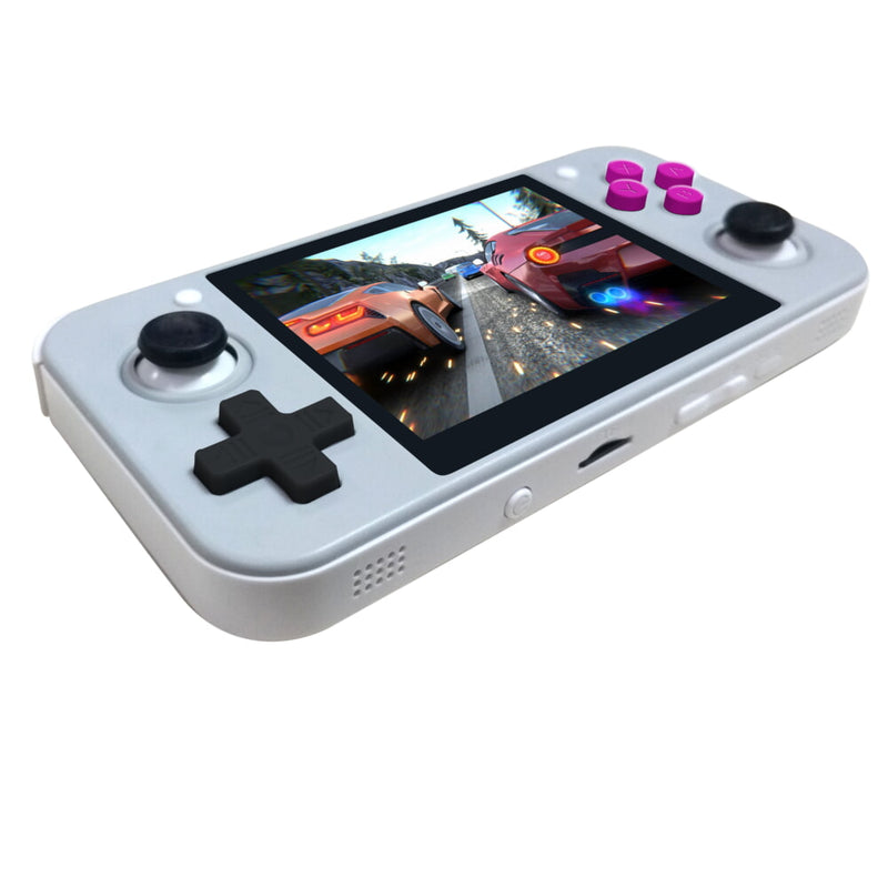 DroiX RetroGame RG350 Retro Gaming Handheld Console - Grey showing D-Pad and MicroSD Card Slot (4178800541750)