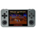 RG350M Retro Gaming Handheld console - Front facing playing Streets of Rage II