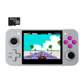 DroiX RetroGame RG350 Retro Gaming Handheld Console - Grey with 64GB Micro SD Card - Front View