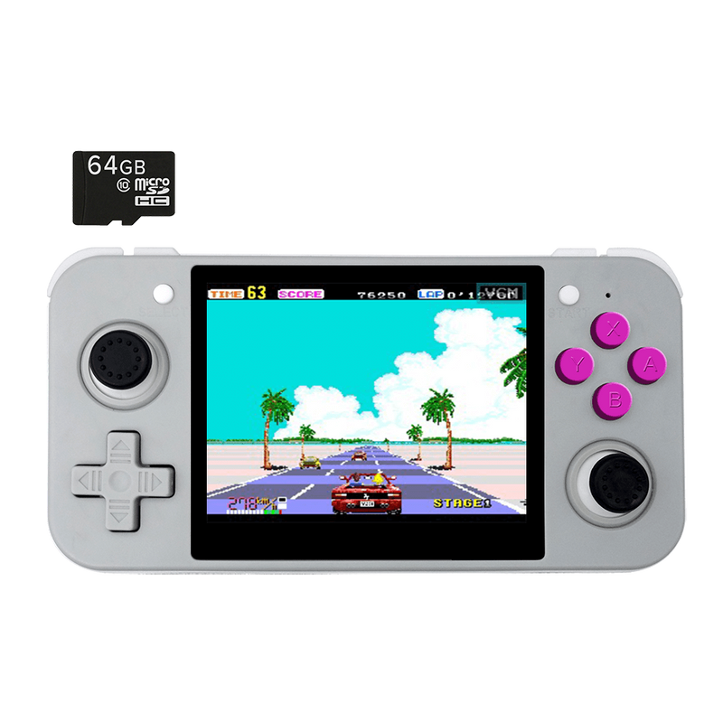DroiX RetroGame RG350 Retro Gaming Handheld Console - Grey with Included 64GB MicroSD Card (4178800541750)
