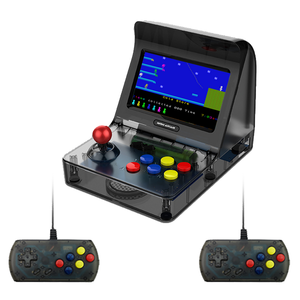 RetroGame RS-07 Arcade Portable Console with Two Controllers