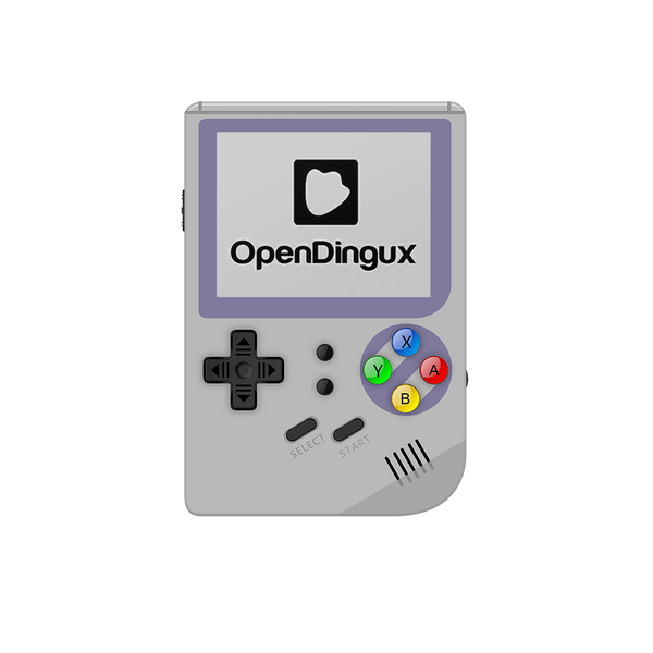 RG300 OpenDingux Retro Gaming Portable Handheld - Grey with OpenDingux