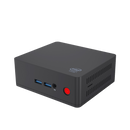 Beelink AP45 Windows 10 Intel NUC HTPC - Front View showing 3.5mm Jack and Power Port (4318777868342)