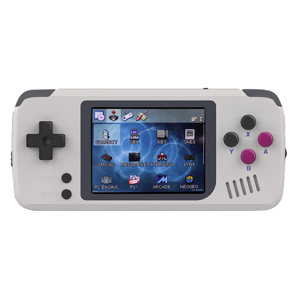 BITTBOY PocketGo handheld showing gMenux UI