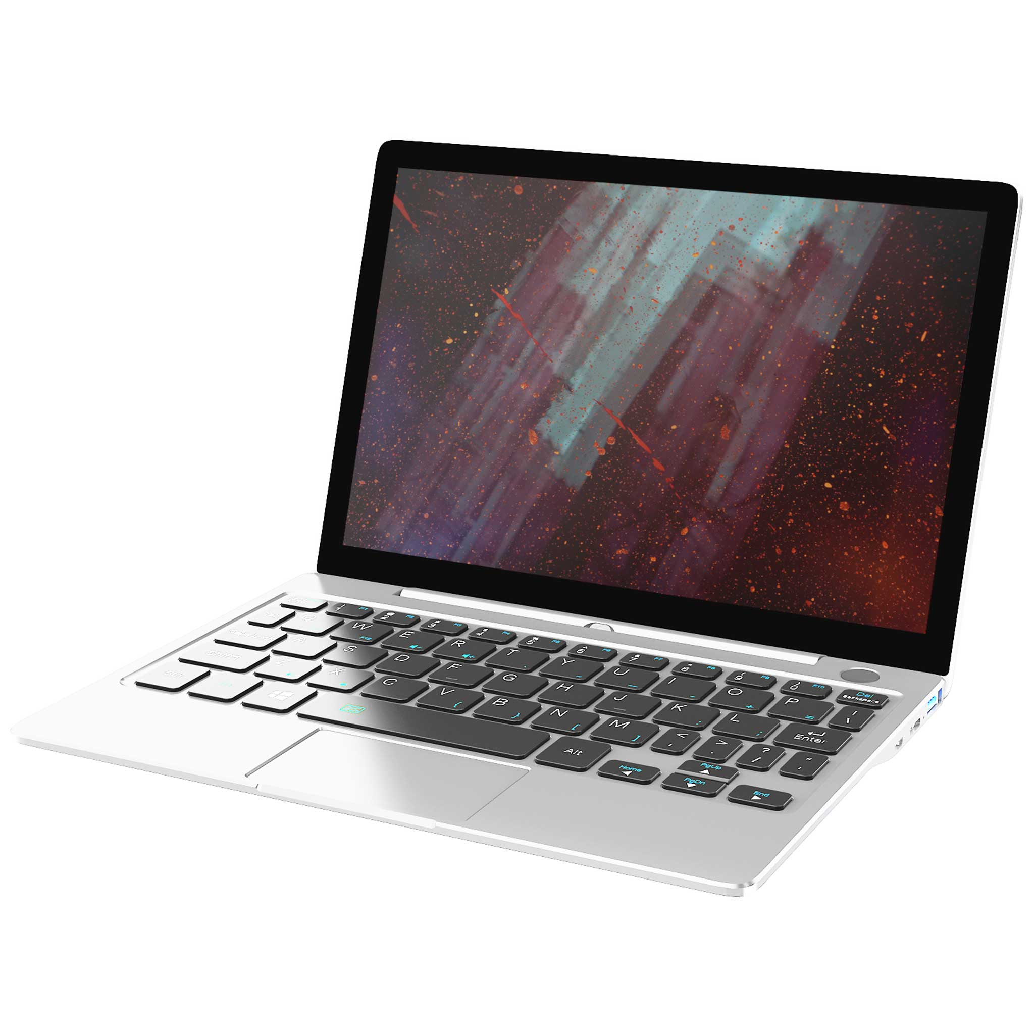 GPD P2 Max Silver Model showing keyboard and display (4115641172022)