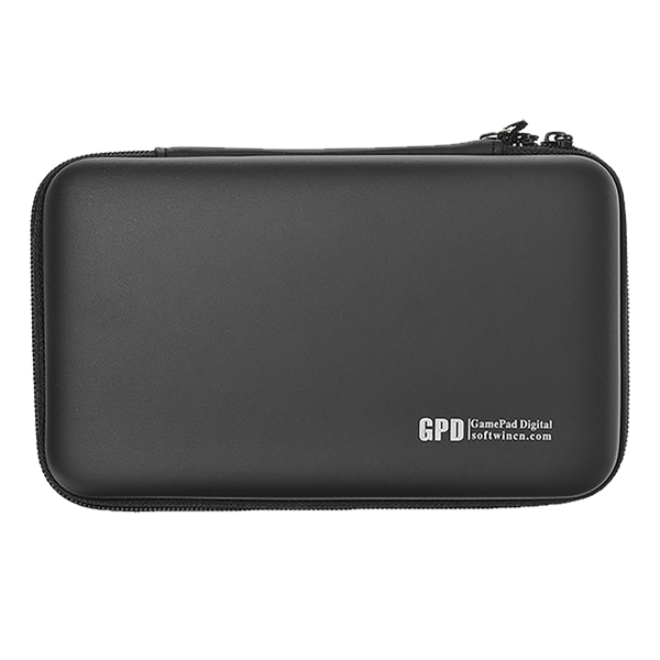 GPD Hardshell Carry Travel Case for GPD XD Plus and GPD WIN 2 - Front View showing GPD Logo