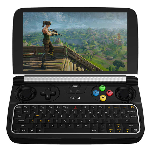GPD WIN 2 Windows Gaming handheld pictured playing Fortnite (4163177119798)