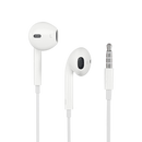 Wired Earphones with 3.5mm Connector for Laptops, Smartphones - Front View showing Earphones and 3.5mm Jack (4349072146486)