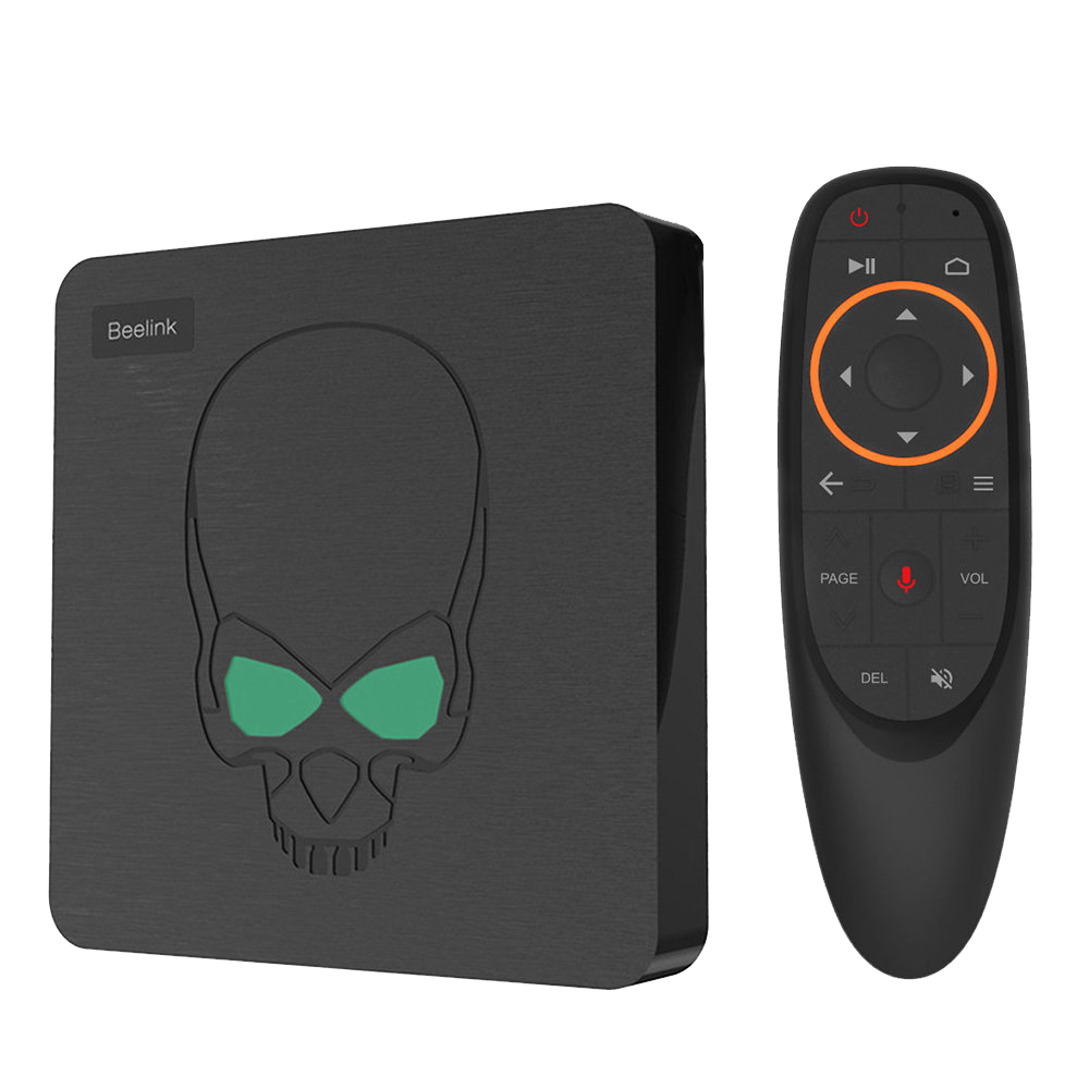 Beelink GT King with G10 Air-Mouse Standing View (4115229343798)