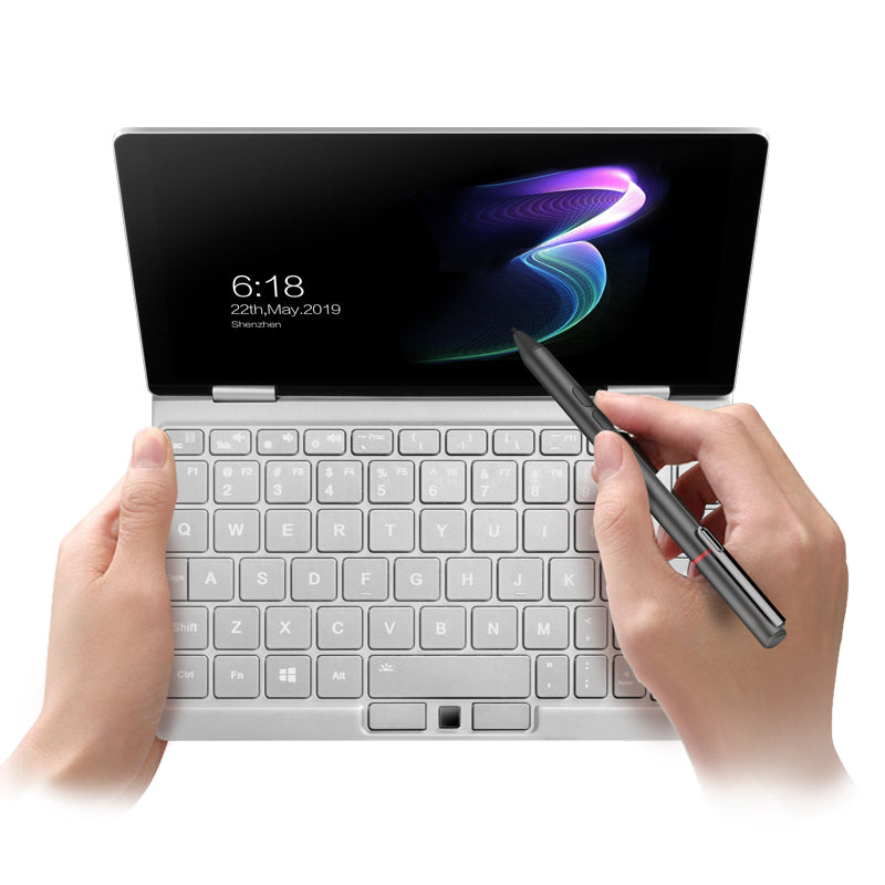 One Netbook One Mix 3 - Anglie View showing QWERTY Keyboard and Touchscreen Display used with Stylus Pen (4098702934070)