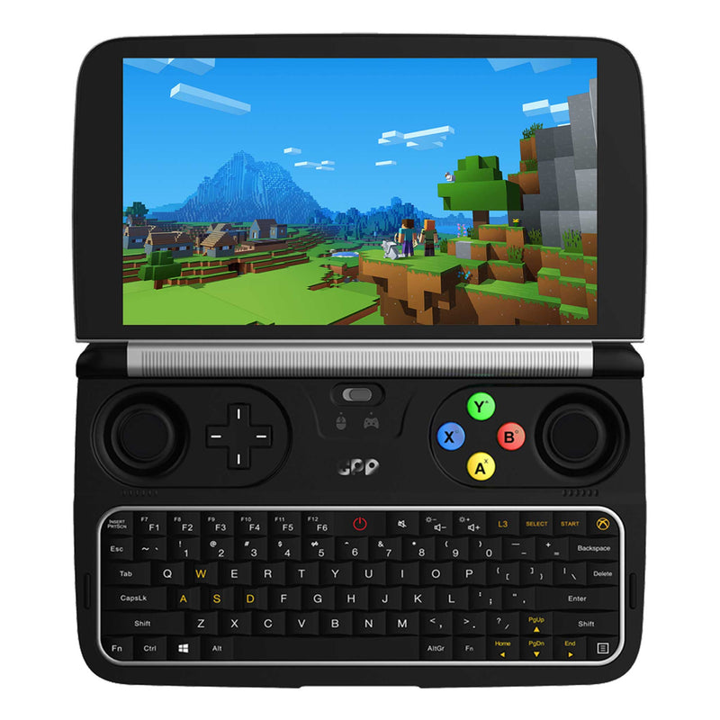GPD WIN 2 Windows Gaming handheld pictured playing Minecraft (4163177119798)