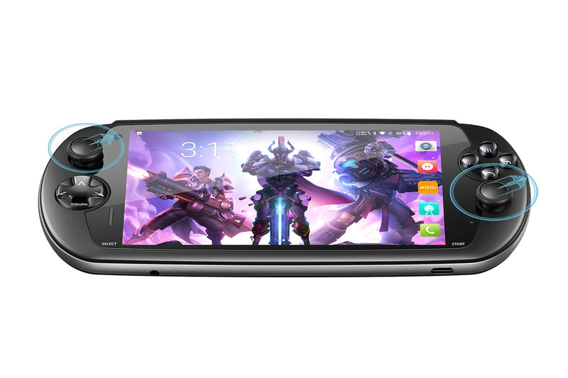 MOQi I7s Android Gaming Smartphone - Front facing showing Gaming Buttons