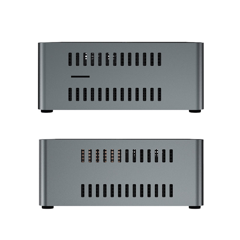 Beelink J45 Windows 10 Mini Computer for Home or Office - Side View showing Air Vents and MicroSD/TF Card Slot (4320711802934)