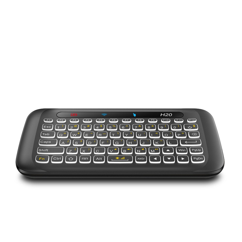 H20 Mini Keyboard with Touchpad showing FULL QWERTY Keyboard with Backlight function (4320614449206)