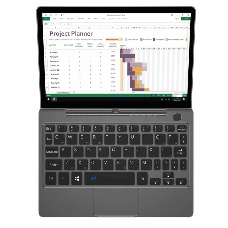 GPD P2 Max Black Model using Microsoft Excel (4115641172022)
