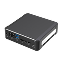 DroiX CK1 Mini PC Windows 10 NUC Up to Intel Core i7 Chipset, 512GB PCI-E NVMe SSD, 16GB DDR4 RAM - Showing right side with 1x Power Adapter Port ; RJ45 Ethernet Port ; 2x USB 3.0 Ports ; 1x HDMI Port ; 1x DVI Port and 1x USB Type-C on the back