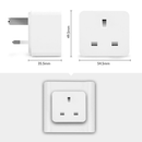 DroiX A9 Smart Wi-Fi Plug - Showing Dimensions