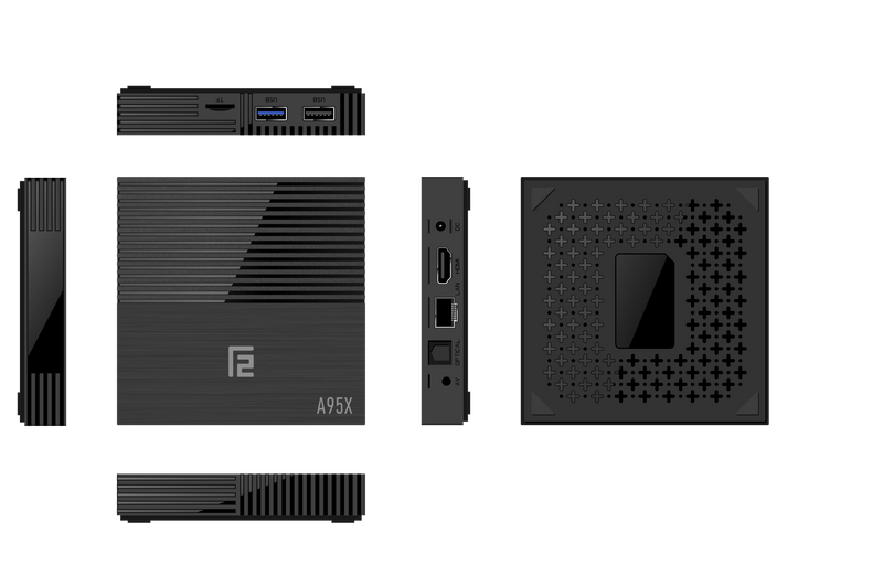 A95X F2 Android 9 Pie Smart TV BOX - Rendering