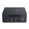 Beelink L55 Windows 10 HTPC Computer for Home and Office - Rear View showing Power Port, two USB 3.0 Type-A, two RJ45 Ethernet Ports, HDMI and DP Port and Two USB 2.0 Type-A Ports