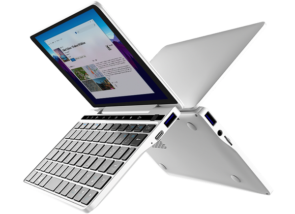 GPD Pocket 2 Silver Laptop pictured running Windows 10 Home (4163202842678)