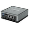 MinisForum UM250 AMD Mini PC - Showing rear I/O with 2x USB Type-A 3.0, 1x DP Port, 1x HDMI Port, and 2x RJ45 Ports for Ethernet along with Power Port