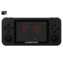 RG351M Matte Black Retro Gaming Handhelds - Showing from the front with retro game playing