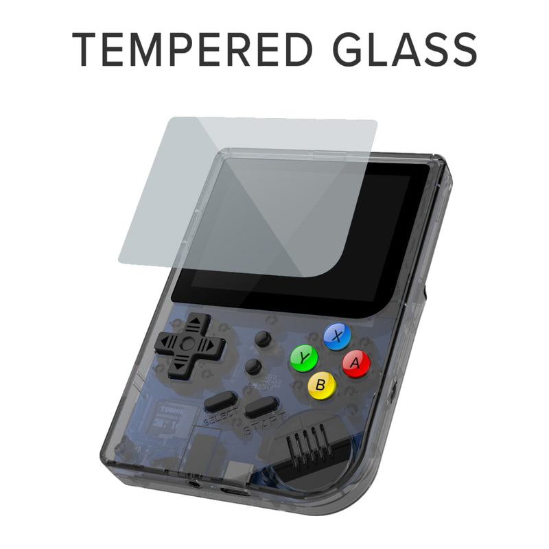 RG300 OpenDingux Retro Gaming Portable Handheld - Transparent Showcasing Tempered Glass (4115258015798)