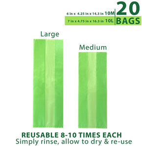 Debbie Meyer® Green Bags® 20pc Set - 10 Med., 10 Lrg.