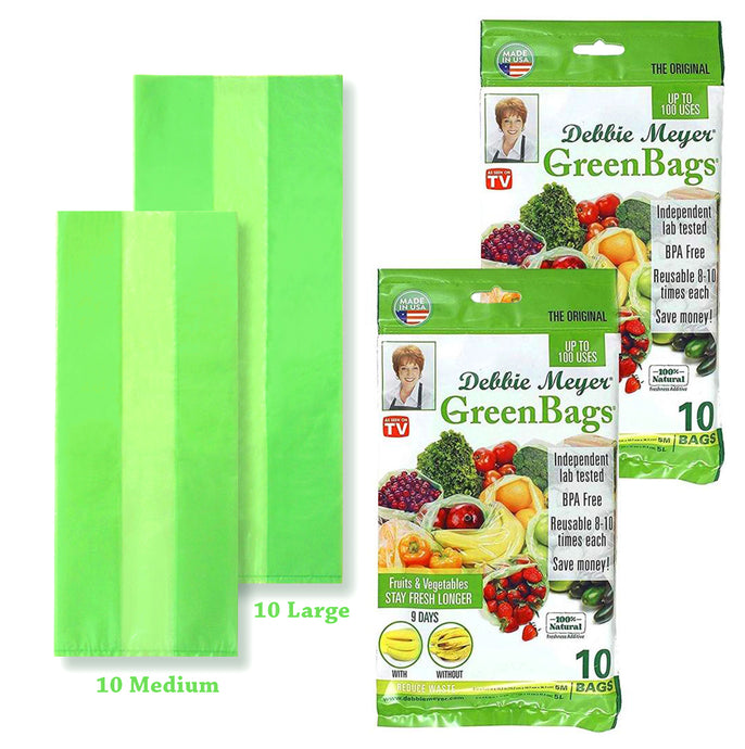 Debbie Meyer® GreenBags® | 20pc Set - 10 Med., 10 Lrg.
