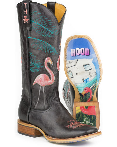 Tin Haul - Womens Flamingo Black Boots at Buffalo Bills Western