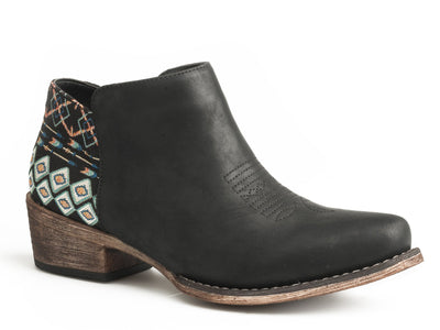 Roper - Sedona Black Aztec Bootie at Buffalo Bills Western