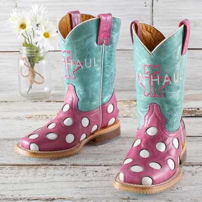 Tin Haul - Kids Little Miss Dotty Boots at Buffalo Bills Western
