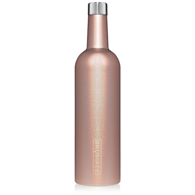 BruMate - WINESULATOR™ 25OZ WINE CANTEEN | GLITTER ROSE GOLD V2.0 at Buffalo Bills Western