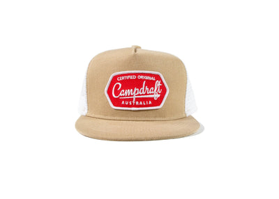 Campdraft Aus - Sand 5 panel Trucker Cap at Buffalo Bills Western