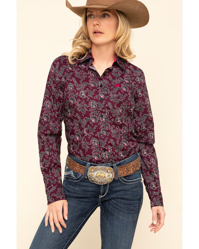 Cinch - Womens Desert Rose Arena Shirt at Buffalo Bills Western