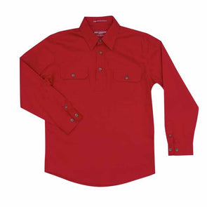 Just Country - Lachlan Chilli Work Shirt Kids at Buffalo Bills Western