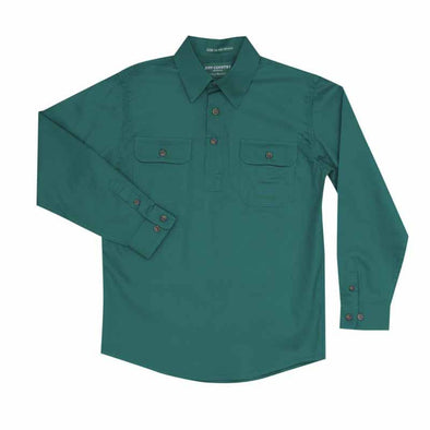 Just Country - Lachlan Dark Green Boys Work Shirt at Buffalo Bills Western