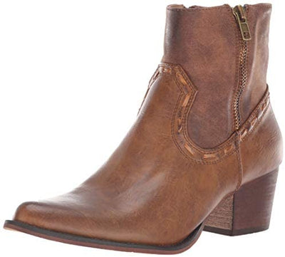 Roper - Brie Burnished Cognac Booties at Buffalo Bills Western