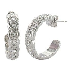 Montana Silversmith - Brilliant Horseshoe Hoop Earrings at Buffalo Bills Western