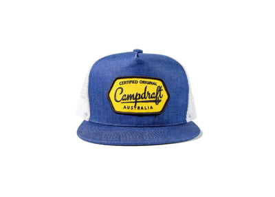 Campdraft Aus - Billabong Blue 5 panel Trucker at Buffalo Bills Western