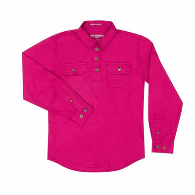 Just Country - Kenzie Hot Pink Girls Work Shirt at Buffalo Bills Western