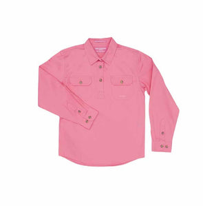 Just Country - Kenzie Girls Rose Pink Work Shirt at Buffalo Bills Western