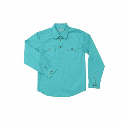 Just Country - Kenzie Turquoise Girls Work Shirt at Buffalo Bills Western