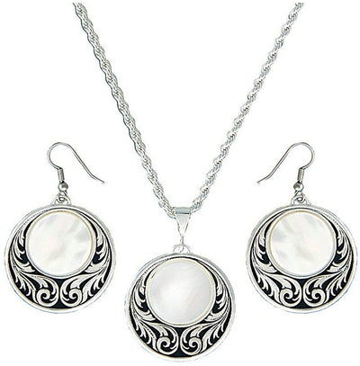 Montana Silversmith - Genuine mother-of-pearl Jewellery Set at Buffalo Bills Western