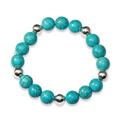MCJ - Turquoise Sterling Silver Stretch Bracelet at Buffalo Bills Western