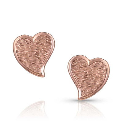 Montana Silversmith - My Heart is Rose Gold Earrings at Buffalo Bills Western