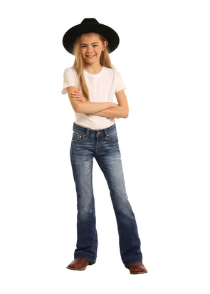 Rock & Roll Cowgirl Trouser Extra Stretch Jeans - G5F3458 at Buffalo Bills Western