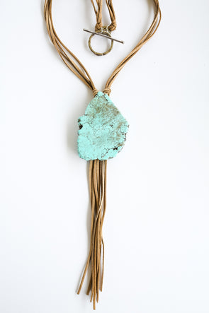 Western Jewellery - Bama Nights Turquoise Slab Necklace at Buffalo Bills Western