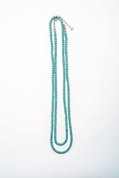 Long Turquoise Rondell Bead Necklace at Buffalo Bills Western